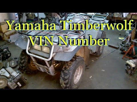 HOW TO FIND YAMAHA TIMBERWOLF VIN NUMBER