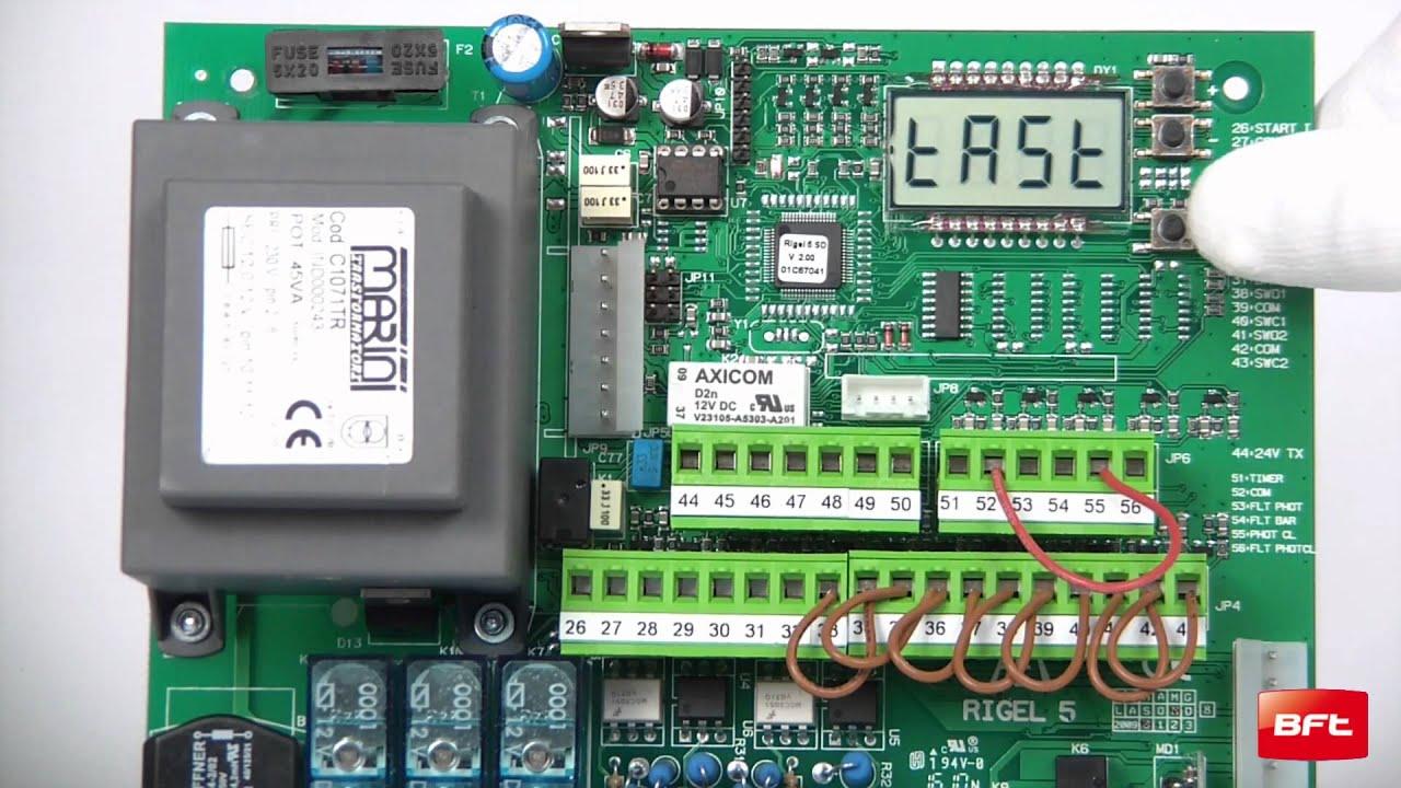 programmazione bft mitto nuovo su centrale con display