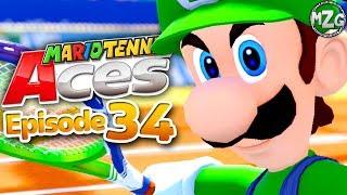 Mario Tennis Aces Gameplay Walkthrough - Episode 34 - Luigi Classic Outift! Singe Player Tournament!