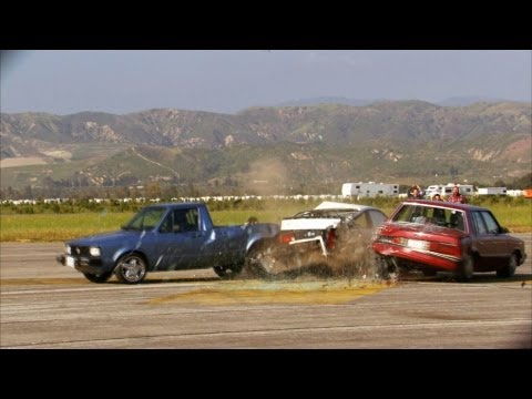 Three-Way Rear End Collision - Top Gear USA - Series 2