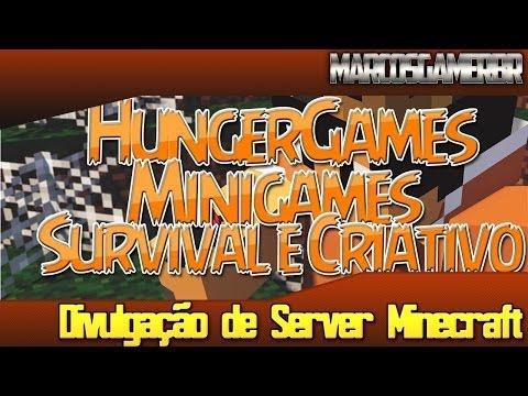 Server Minecraft 1.6.4/1.7.2/1.7.4-HungerGames,Survival e Criativo e Minigames e