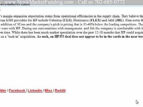 Stock Market Trading Video Hewlett Packard (HPQ) Management Update