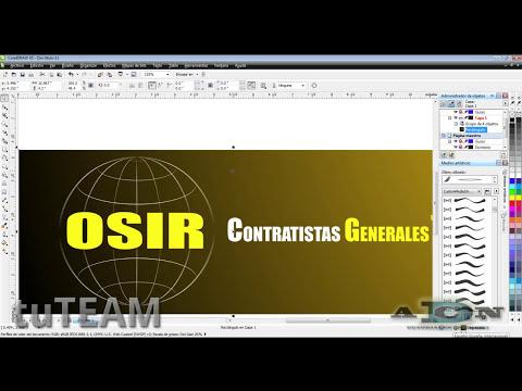 CorelDRAW, Creación de logotipo, identidad corporativa X4, X5, X6 @ADNDC @adanJP
