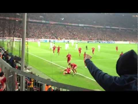 FC Bayern München - Real Madrid CL Halbfinale 17.04.2012 TOR 1:0 Franck Ribéry !!! LIVE in HD !!!