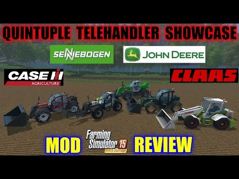 Farming Simulator - Quintuple Telehandler Showcase