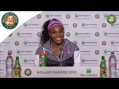 Press conference Serena Williams 2015 French Open/ R128