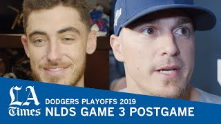 Dodgers' Kiké Hernandez, Cody Bellinger, and Russell Martin on winning NLDS Game 3