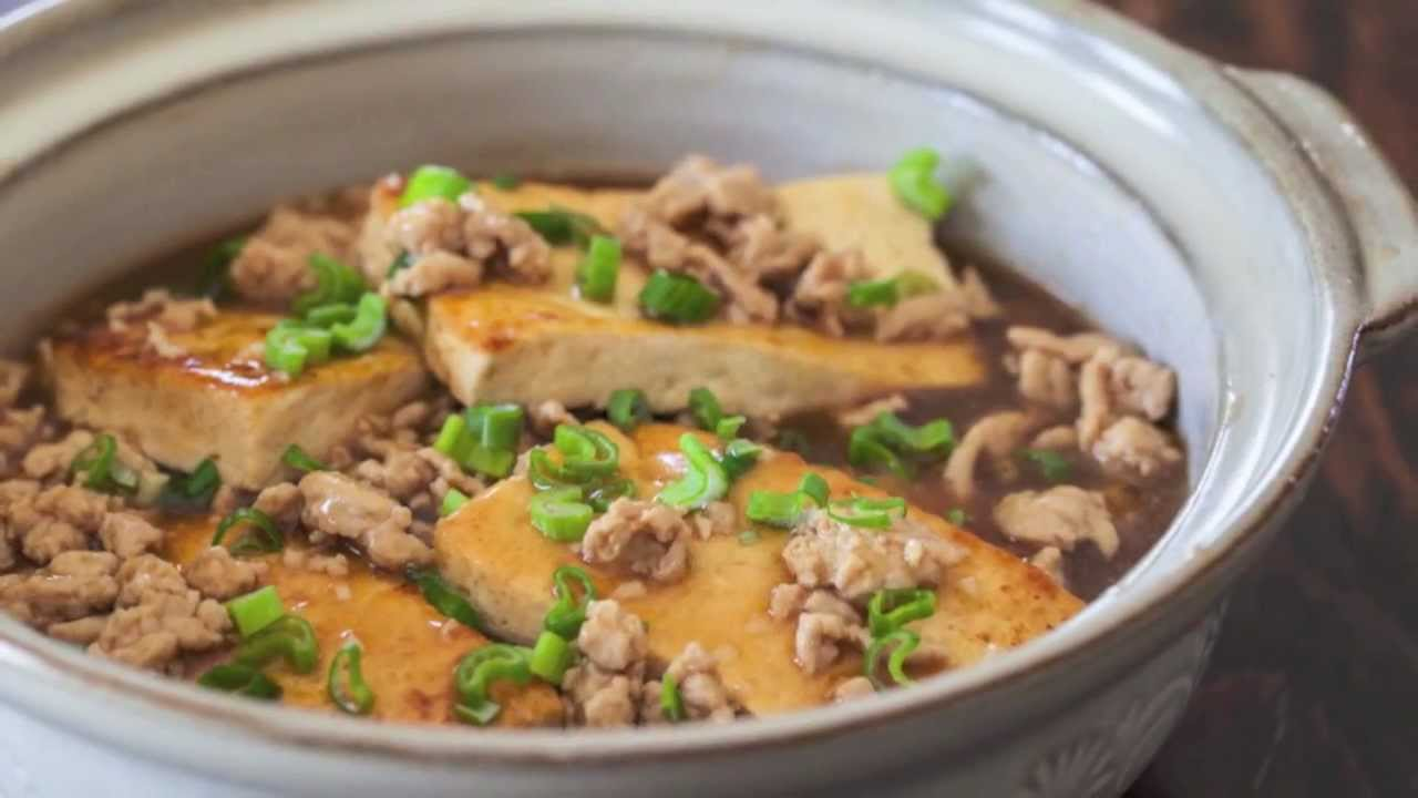 Chinese Braised Tofu With Ground Pork Recipes — Dishmaps