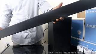 01. SAMSUNG SOUNDBAR T450 LEARN HOW TO ASSEMBLY THIS AUDIO GEAR