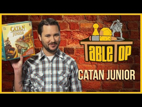 Catan Junior: Emily Anderson, Brett Baligad, and Adam Chernick join Wil Wheaton on TableTop S03E03