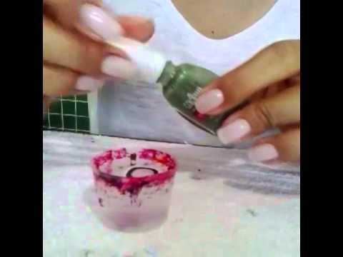 tutorial unhas marmorizadas