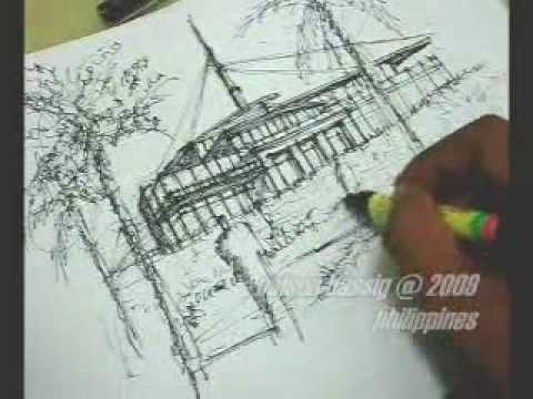 Speed Sketching in 15 minutes using Pen & Ink (An Architectural Perspective)