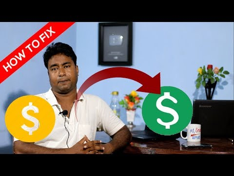 How to fix Yellow Dollar YouTube video problem ! Not suitable for all advertiser - request a review