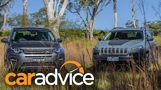 2015 Land Rover Discovery Sport vs Jeep Cherokee Trailhawk - Off-road Comparison
