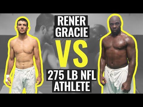 Rener Gracie Spars with 275 lb NFL Athlete (Gracie University Narrated Sparring)
