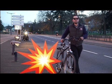 Défi : Se faire flasher par un radar en velo FAIL RATZ TV