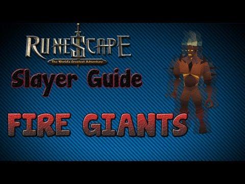 """Runescape 07″ – Slayer guide #25: Fire Giants!"