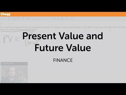 Present Value And Future Value | Finance | Chegg Tutors