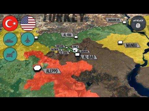 14 ноября 2016 года. Военная обстановка в Сирии. Протурецкие силы возле Эль-Баба. Русский перевод.