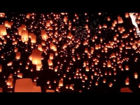 Yee Peng Festival 2012 Full 1080 HD - Breathtaking view of 10000s of Sky Lanterns (Yi Peng 2012)