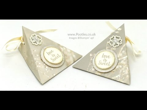 Wedding Favour Triangle Pouches using Stampin' Up! Supplies