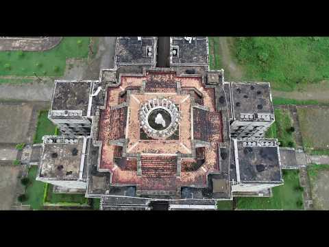 4К drone - Маяк Колумба, столица Доминиканской Республики