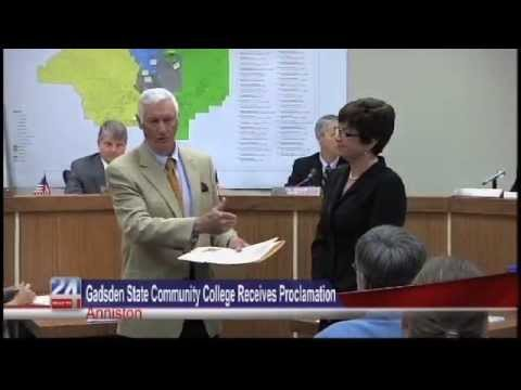 Gadsden State Community College Receives Proclamation in Anniston