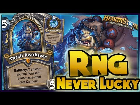 Hearthstone - RNG NEVER LUCKY, WTF Moments - Kobolds and Catacombs Funny Rng Moments