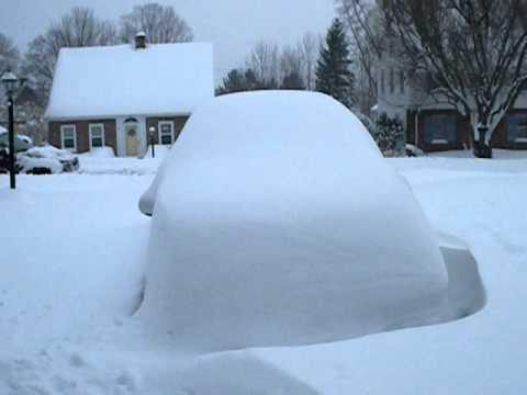 A bunch of snow fell overnight in the Binghamton, New York area.