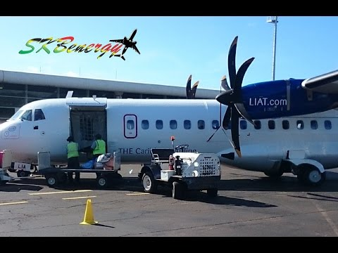 St Maarten to St Kitts on LIAT ATR-72 600 (HD)