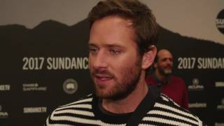 Armie Hammer discusses Call Me By Your Name & Cars 3 at Sundance