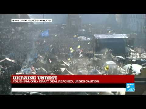 Ukraine: President says draft deal reached at EU crisis talks