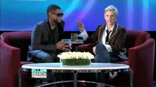 Usher Shows the Love for Ellen(09/13/10)