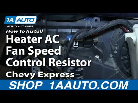 How To install Replace Heater AC Fan Speed Control Resistor 1997-13 Chevy Expres