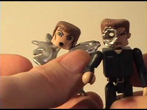 Terminator 2 Minimates T-800 Battle Damaged & T-1000