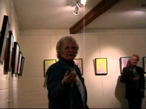 Maggi Hambling opens Chris Newson's Exhibition 25-04-14