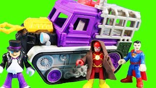 Imaginext Penguin Snow Tank Captures Batman + Flash Makes Replica Justice League Toy Figures
