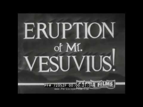 ERUPTION OF MOUNT VESUVIUS DURING 1944 WORLD WAR II NAPLES ITALY  72052f