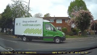 Look Mum No Hands - Waitrose Driver Eating at the Wheel