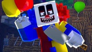 Minecraft: PALHAÇO MALUCO INVADIU A CASA !! - Casa Dos Youtubers #20