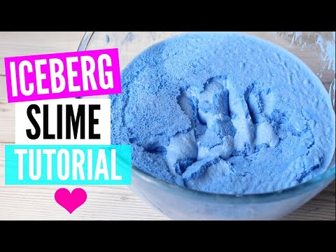 Как сделать iceberg slime ? 😱/РЕЦЕПТ СЛАЙМА
