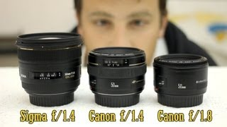 50mm lens battle: Sigma f/1.4, Canon f/1.4, Canon f/1.8