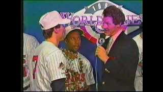 1991 World Series Final Post Game Coverage on CBS