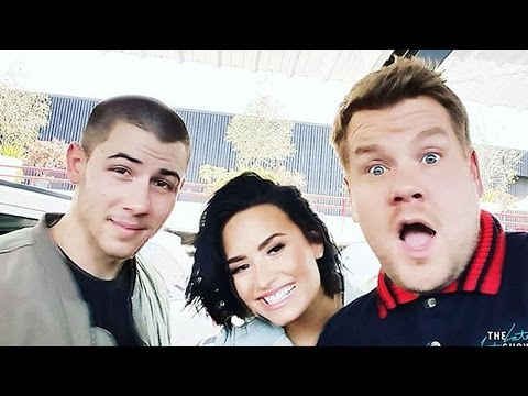 Demi Lovato & Nick Jonas Carpool Karaoke Sneak Peek With James Corden