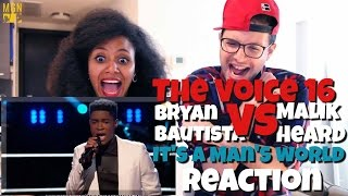 "Download Lagu The Voice 2016 Battle - Bryan Bautista vs. Malik Heard: ""It's a Man's, Man's, Man's World"" Reaction Gratis STAFABAND"