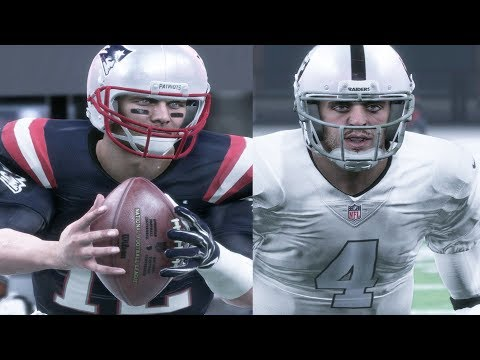 Madden 18 Full Early Gameplay Tuck Rule Rematch Down To