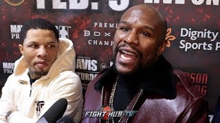FLOYD MAYWEATHER SNAPS ON REMATCHING PACQUIAO & TANK DAVIS FIGHTING LOMACHENKO