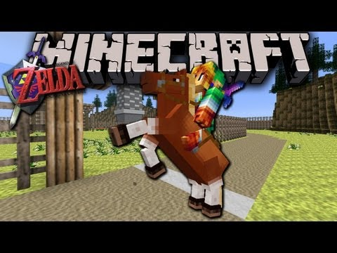 Minecraft 1.6 + The Legend of Zelda: Horse Race!