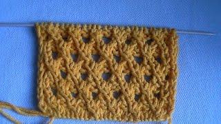 Образец вязание коса