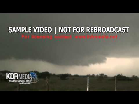 05-15-13 Ric Burney Wall Cloud and Hail, Cresson, TX
